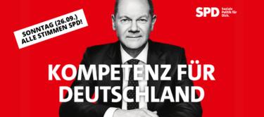 Sonntag, den 26.09. SPD wählen!