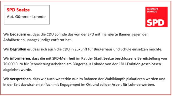 SPD Guemmer Lohnde